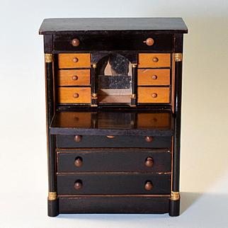 Doll Size Early Kestner Drop Front Desk 1830s – 1840s