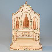 "German Dollhouse Spielwaren Pipe Organ Music Box by Szalasi 1950s – 1960s Large 1"" Scale"