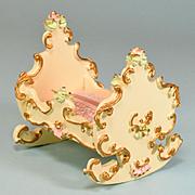 """German Dollhouse Spielwaren Boutique Cradle by Szalasi 1970s – 1980s Large 1"""" Scale"""