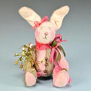 "3 3/4"" Miniature Jester Bunny by Debi Ortega – Debi's Bears 1990s"