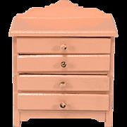 "Antique German Dollhouse Wooden Dresser 1920s 1"" Scale"