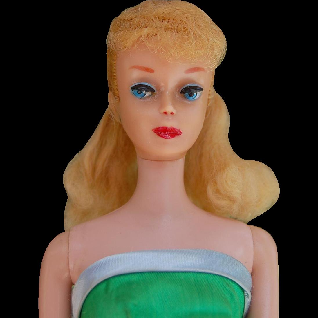 Vintage Ponytail Barbie blonde  Mattel pearl earrings in Senior Prom # 951 dress  doll #5