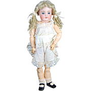 Antique Simon Halbig bisque doll to dress Handwerck body plus long curly blonde mohair wig underwear shoes and socks