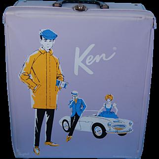 Mattel 1962 Ken and Barbie lavender case Ponytail