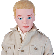 Vintage Mattel Ken blonde flocked hair Airforce/Army military TM Mattel Pats Pend Japan tagged clothes excellent