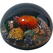 Tarex Infinity large rock and  flower garden paperweight domed lucite Canada  5 inch
