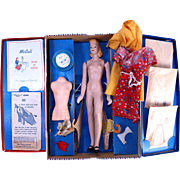 Vintage Peggy McCalls Modern Fashion Model Sewing Mannequin in box with dressmaker's form  patterns accessories fabric 1942