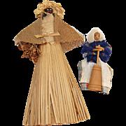 Vintage nut head dolls souvenir Black Americana Bermuda and Amish butter churner