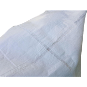 Vintage linen cotton 1 yard x 21.75 inches drawn thread white fabric yardage for doll clothes
