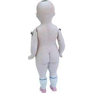 Large chubby German all bisque doll  mold 276 size 6 for repair and dress 5.75 inch  TLC