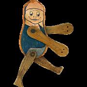 Antique 1903 Goodegogood articulated flat litho on wood acrobat boy doll Good E Gogood That's me! trademark  Frederick M Osgood Manchester NH