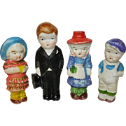 All bisque immobile dolls 4 dolls Made in Japan bridegroom 3 inch