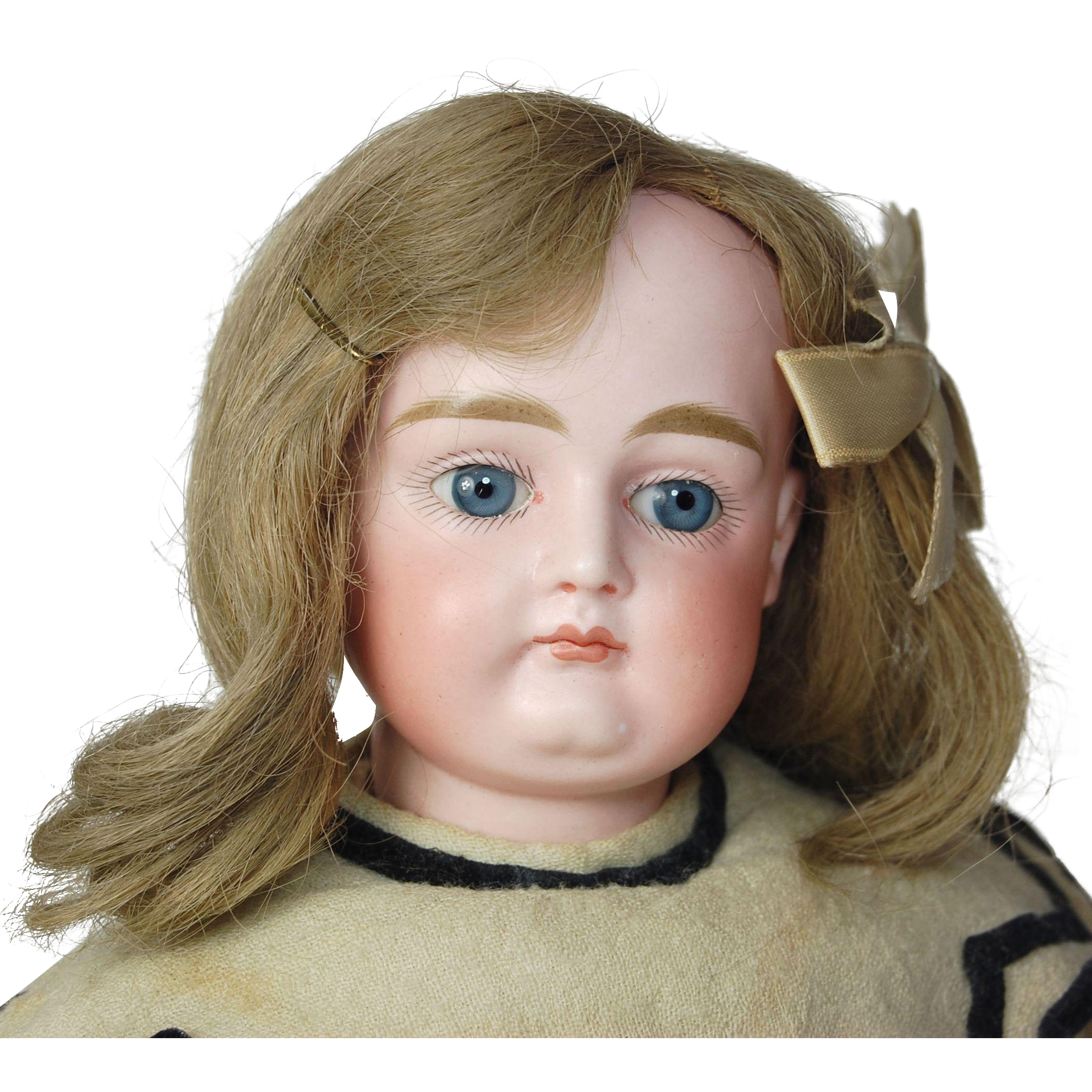 "Antique 13"" pouty Kestner 8  CM German bisque doll straight wrist loose ball body TLC rim chip hairline"