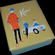 Mattel 1962 Ken and Barbie Ponytail doll trunk case mustard yellow