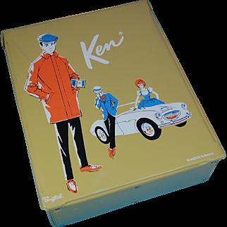 Mattel 1962 Ken and Barbie yellow case Ponytail