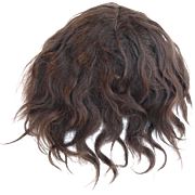 Antique doll wig German mohair dark sable brown black gauze wig cap full hair hair needs styling 12 inch circ.