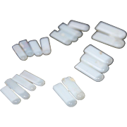 Antique porcelain doll teeth 19 genuine pearly white original plaster-in German bisque doll parts repair missing teeth doll hospital parts