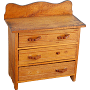 Vintage doll dresser wood chest of drawers 1910-1920's  7.5 tall