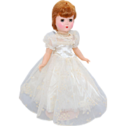 1950's HP doll bent knee walker 14 inch unmarked doll with wardrobe three outfits two pearl necklaces red flocked shoes
