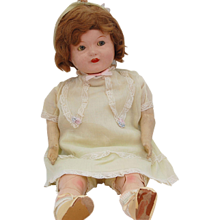 Ideal Composition Flossie Flirt Flirty Eye Mama Doll original clothes shoes 22 inch TLC flange head Ideal diamond logo