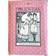 Folkwear Pattern 203 Edwardian Underthings camisole petticoat vintage UNCUT sewing pattern Victorian reenactment theatre plays costuming SML