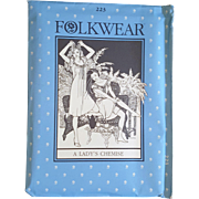 Folkwear Pattern 223 Lady's Chemise feminine nightgown dress vintage UNCUT sewing pattern Victorian reenactment theatre plays costuming 1982