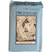 Folkwear Pattern 224 Beautiful Dreamer feminine nightgown vintage UNCUT sewing pattern Victorian reenactment theatre plays costuming 6-20