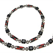 Art Deco Necklace and Bracelet Set by Fahrner