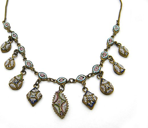 Micro Mosaic Necklace