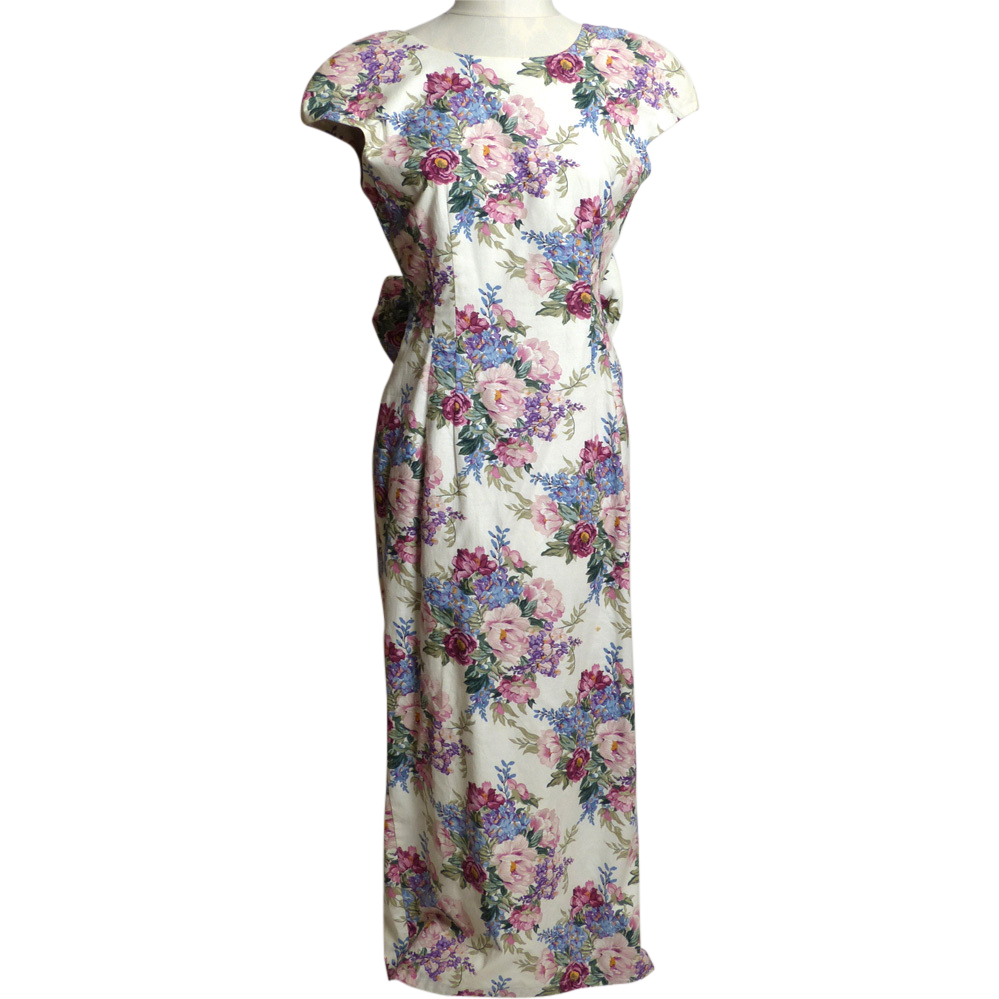 Circa 1980s Made For Memories Misty Lane Lavender Floral Dress