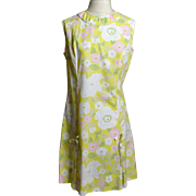 1960s NPC Fashions Cotton Floral Baby Doll Dress