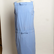 Circa 1970s Jonathan Logan Periwinkle Blue Day Dress