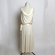 Circa 1970s Climax By David Howard Draped Jersey Dress