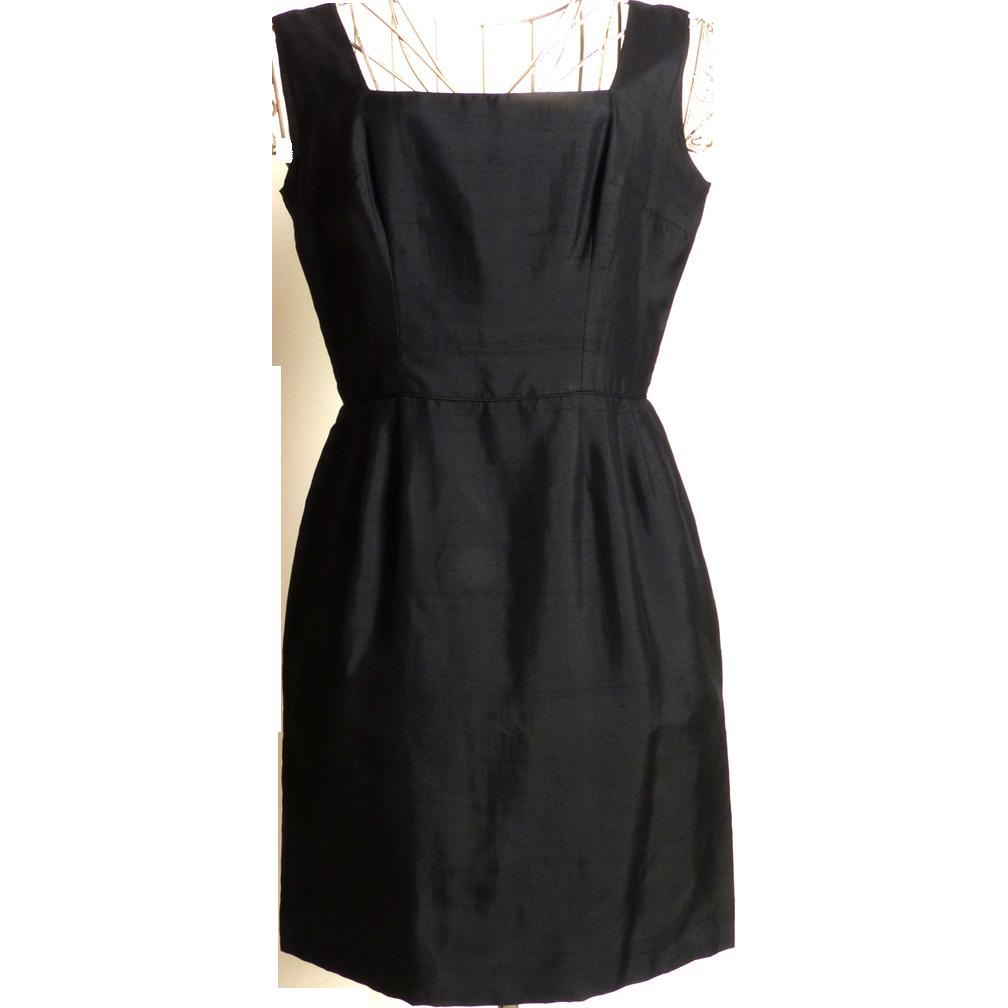 Circa 1950s Little Black Dress