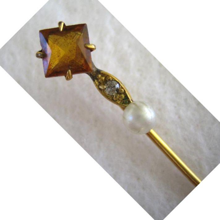 S&W  Goldtone Stickpin