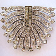 Unsigned Matched Rhinestone Dress Clips