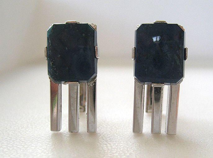 Sterling Silver Blue Stone Cufflinks