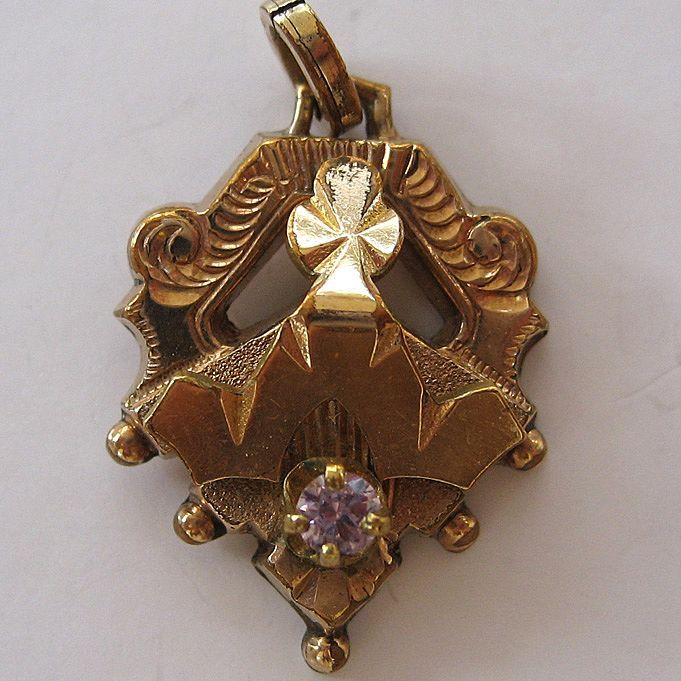 Victorian Gold-Filled Amethyst Pendant