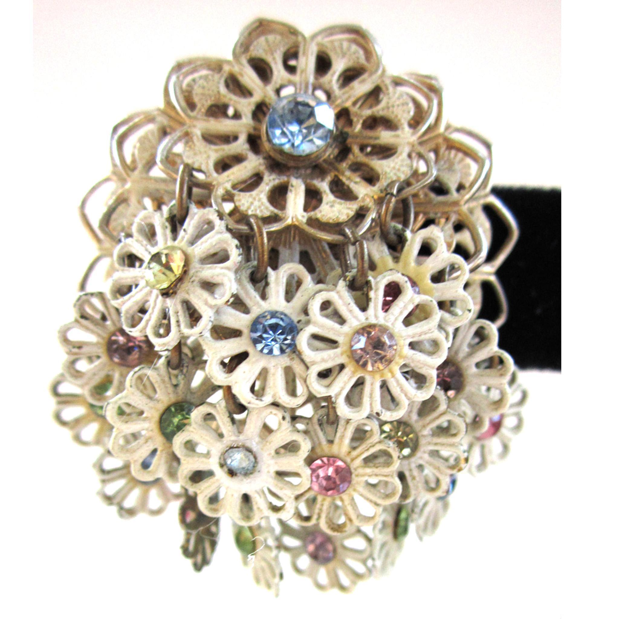 Pastel Floral Filigree Earrings