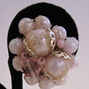 Japan Sugared Pink Beaded Earrings