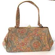 Pastel Floral Tapestry Purse/Handbag