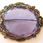 Victorian Faux Amethyst Pinchbeck Brooch/Pin