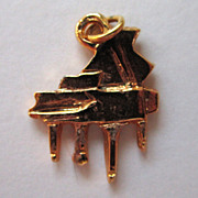 Gold-Tone Piano Charm
