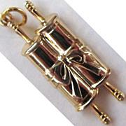 Gold-Tone Torah Charm