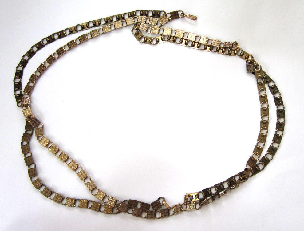 Stamped Gold-Tone Metal Belt