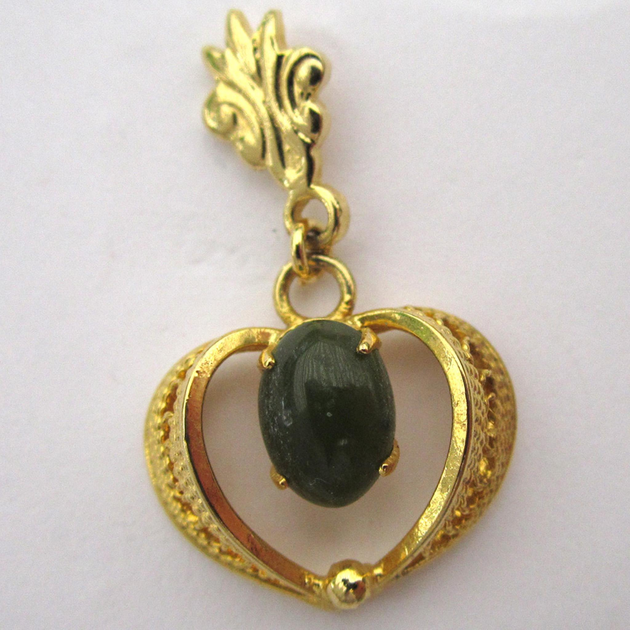 Gold-Tone Jade Wirework Earrings