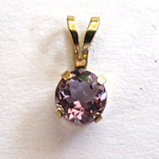10K Yellow Gold Amethyst Pendant