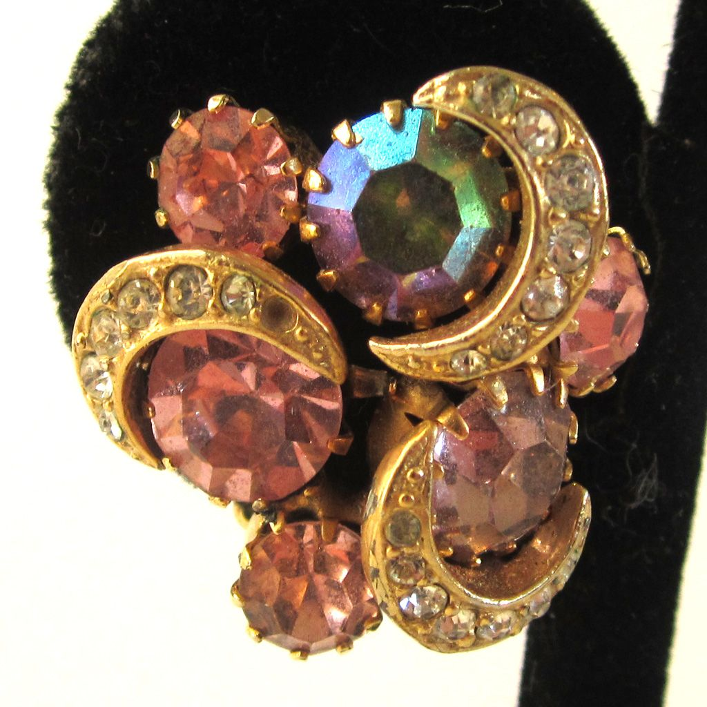 Kramer Aurora Borealis Gold-Tone Earrings