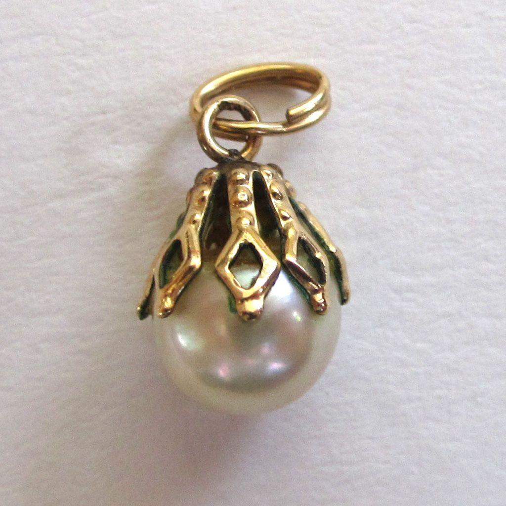 Gold-Filled Cultured Pearl Pendant