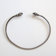 Sterling Silver Snake/Dragon Head Bracelet/Bangle